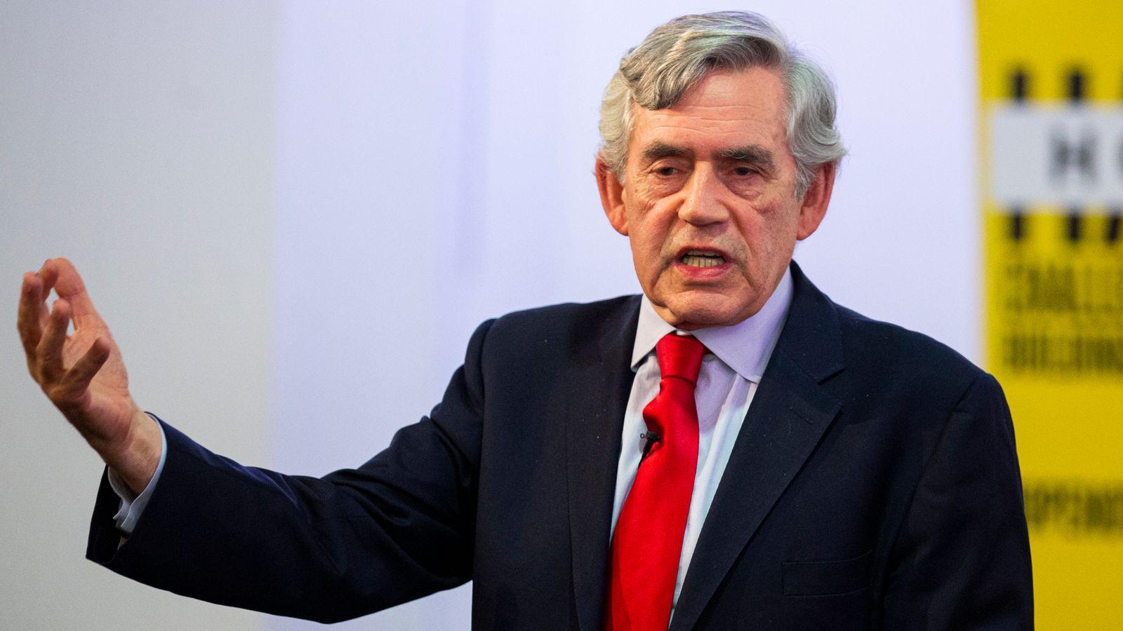 Former UK Prime Minister Brown appointed WHO ambassador