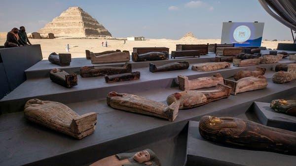 Egypt unveils 100 ancient coffins, statues found in Saqqara