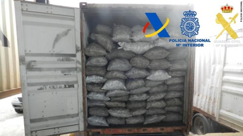 Spanish police seize more than 2 tons of cocaine hidden in charcoal