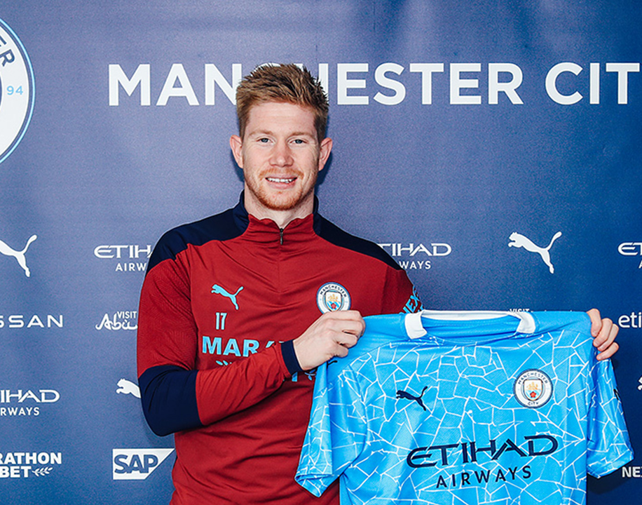 De Bruyne signs Manchester City contract to 2025