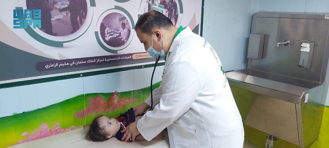 KSrelief's Clinics Provide Medical Services to 375 Patients at Zaatari Camp, Jordan