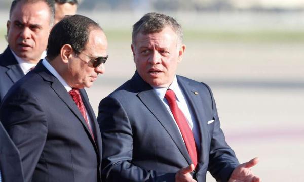 King, Egypt president discuss ties, region