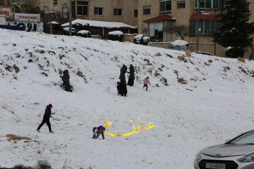 Snow covers Jordan