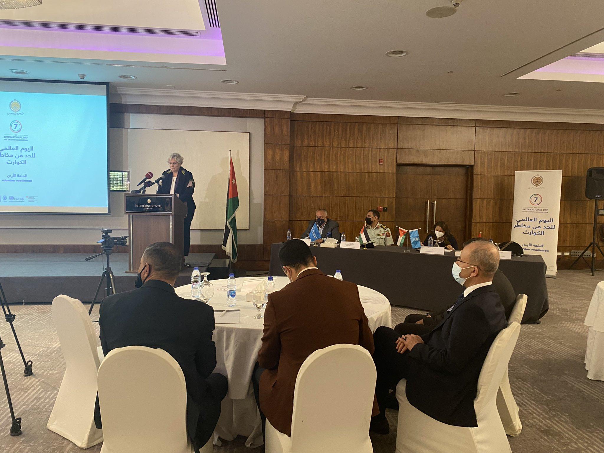 International Day for Disaster Risk Reduction in Jordan: National Consultation Workshop to update the National Strategy for Disaster Risk Reduction