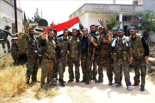 Syrian army gains ground on Jordan border in southwest