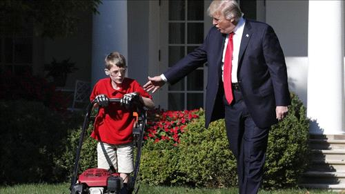 Virginia boy to mow White House lawn on Friday